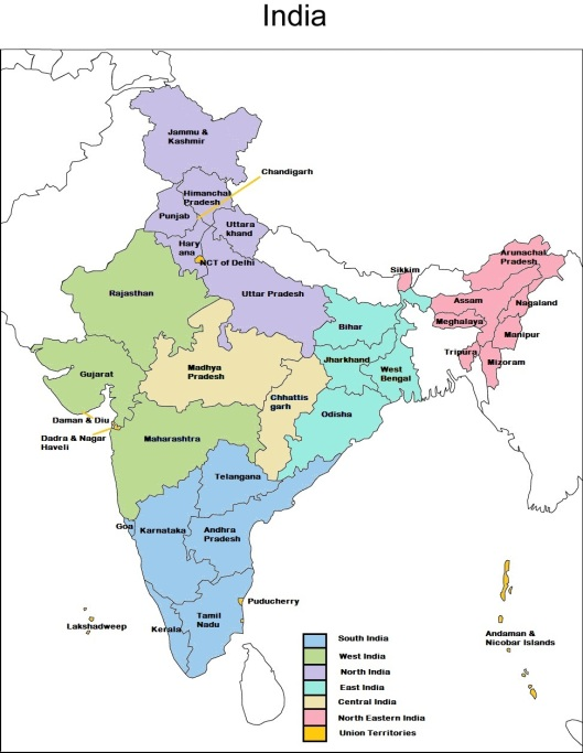 India States Map 2016.India States And Union Territories Ann S Blog